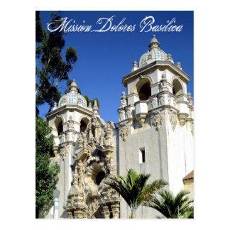 代表団のドロレスのバシリカ会堂、サンフランシスコ、カリフォルニア ポストカード