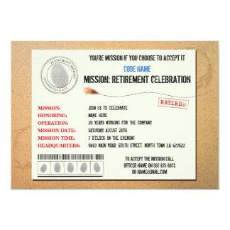 代表団の退職パーティーのスパイの招待状 カード