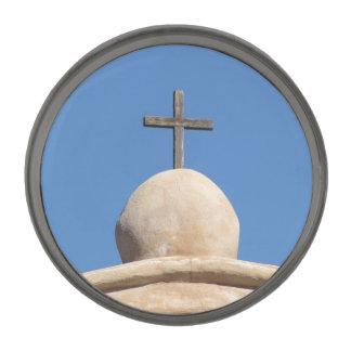 代表団教会の十字 ガンメタルラペルピン