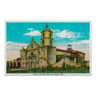 代表団San Luis、Rey de FranciaOceanside、カリフォルニア ポスター