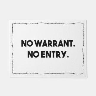 令状無し。 記入項目無し。 有刺鉄線の警察 ドアマット