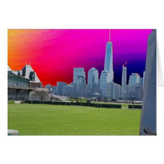 以前自由タワーのニューヨークの世界貿易センター カード