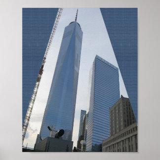 以前自由タワーのニューヨークの世界貿易センター ポスター