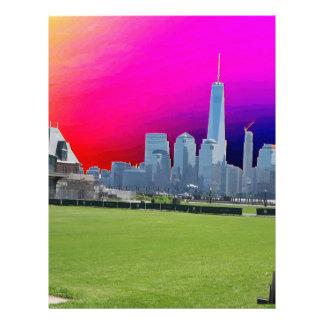 以前自由タワーのニューヨークの世界貿易センター レターヘッド
