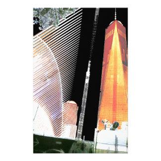 以前自由タワーのニューヨークの世界貿易センター 便箋