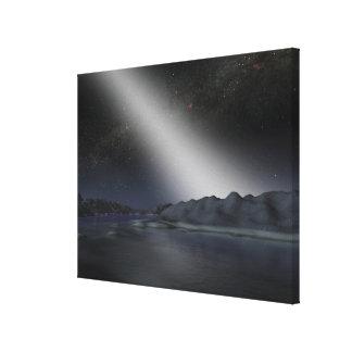 仮説的な外国の惑星からの夜空 キャンバスプリント