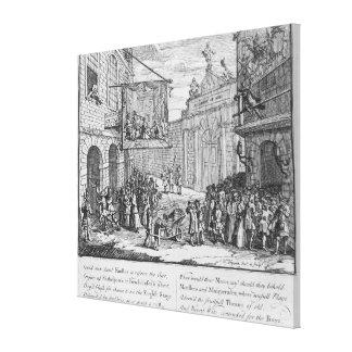仮面舞踏会およびオペラのバーリントンのゲート1724年 キャンバスプリント
