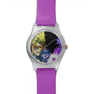 仮面舞踏会のキンセアニェラのベニス風のマスク 腕時計