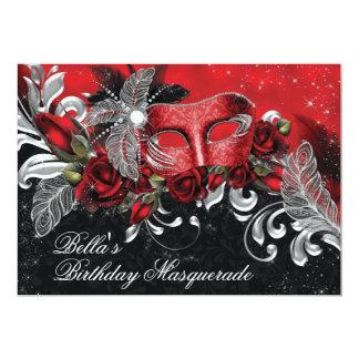 仮面舞踏会のパーティの招待状 カード