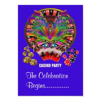 仮面舞踏会のパーティーのカジノ カード