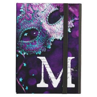 仮面舞踏会のマスクの衣裳のモノグラムのイニシャルIPADの例 iPad AIRケース