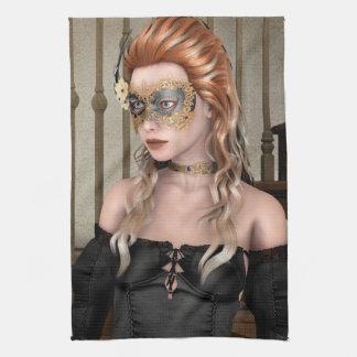 仮面舞踏会のマスク キッチンタオル