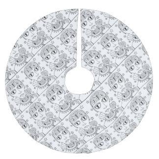 仮面舞踏会の外国の棒つきキャンデーの線画のデザイン ブラッシュドポリエステルツリースカート