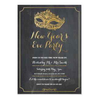 仮面舞踏会の新年年のイブのパーティーのマスクの招待 カード
