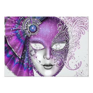仮面舞踏会の謝肉祭のパーティの招待状 12.7 X 17.8 インビテーションカード
