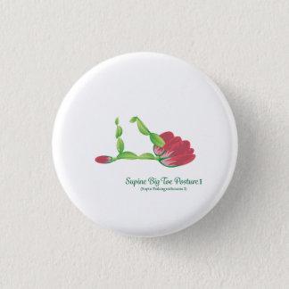 (仰向けの足の親指の姿勢I)の小さい円形ボタン 3.2CM 丸型バッジ