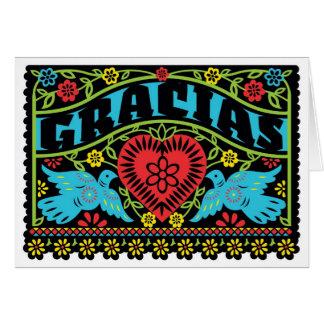仲の良い恋人同士のPapel Picadoのメッセージカード カード