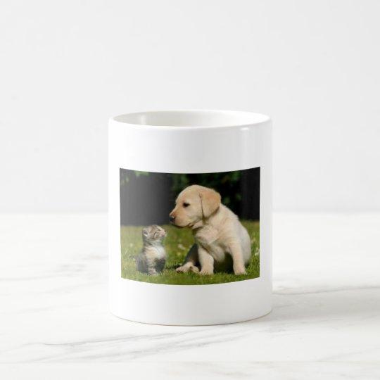 仲良し犬猫 コーヒーマグカップ
