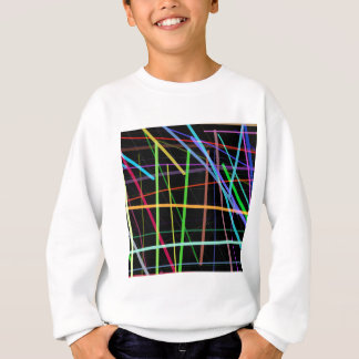 任意ライン90年代のレトロのネオン スウェットシャツ
