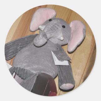 任意|象|床 丸形シールステッカー