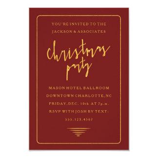 企業のな休日のクリスマスのパーティの招待状 カード