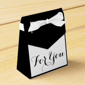 企業のな白黒のフォーマルな結婚式 フェイバーボックス