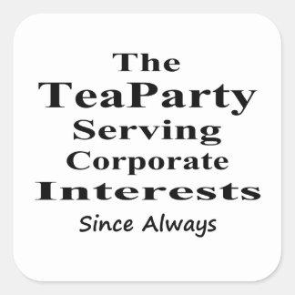 企業のな興味を常に機能するお茶会 スクエアシール