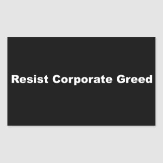 企業のな貪欲のマットのステッカーに抵抗して下さい 長方形シール