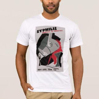 企業への梅毒の~の脅迫 Tシャツ