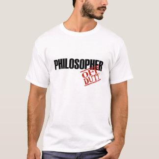 休みの哲学者 Tシャツ