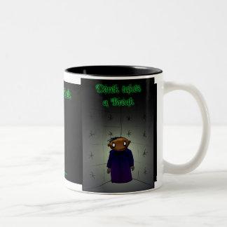 休み-暗いデレック--をとって下さい ツートーンマグカップ