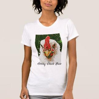 休息のひよこの顔のTシャツ Tシャツ