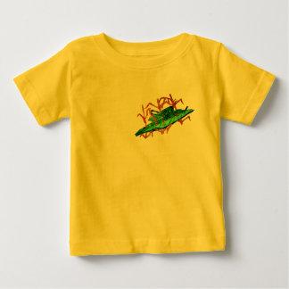 休息のバッタ ベビーTシャツ