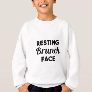 休息のブランチの顔 スウェットシャツ