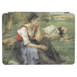 休息の小作人1877年 iPad AIR カバー