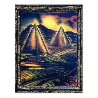 休息場所、ピラミッド ポストカード