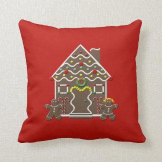 休日のお菓子の家のクリスマスの装飾用クッション クッション