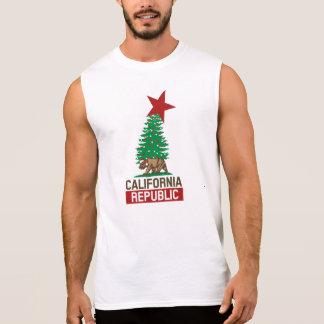 休日のカリフォルニア共和国のお祝い 袖なしシャツ