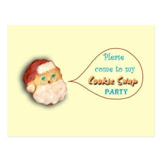 休日のクッキーの交換のパーティの招待状 ポストカード