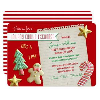 休日のクッキー交換交換のパーティー カード