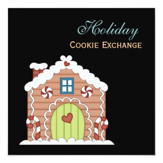 休日のクッキー交換招待状 カード
