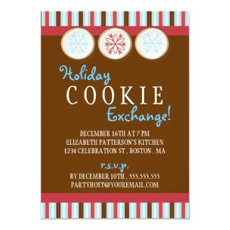 休日のクッキー交換砂糖クッキーの招待状 カード