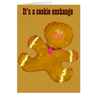 休日のクッキー交換 カード