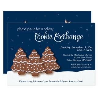 休日のクリスマスのクッキー交換 カード