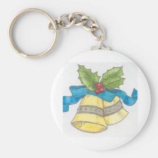 休日のクリスマス鐘のヒイラギの一流のデザイン キーホルダー