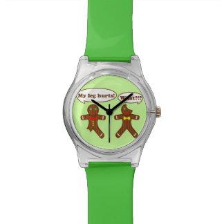 休日のジンジャーブレッドのユーモア 腕時計