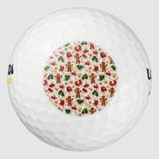 休日のジンジャーブレッドパターン ゴルフボール