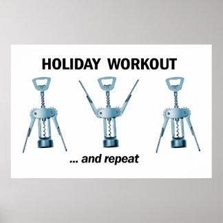 休日のトレーニング ポスター