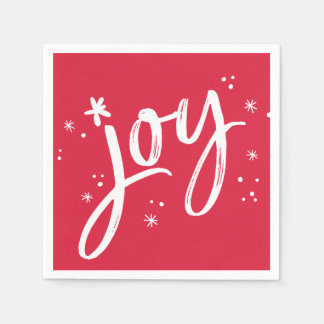 休日のパーティの喜びの原稿の赤い白の輝き スタンダードカクテルナプキン