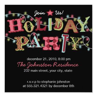 休日のパーティライト-モダンなパーティの招待状 カード